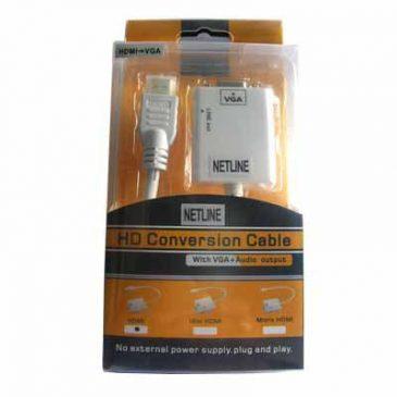 Converter Hdmi To Vga + Audio Netline
