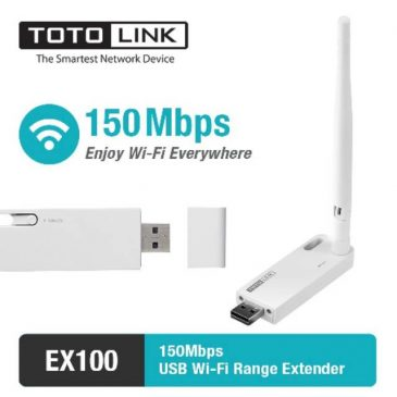 TOTOLINK EX100 – Wifi Extender/Repeater USB 150Mbps